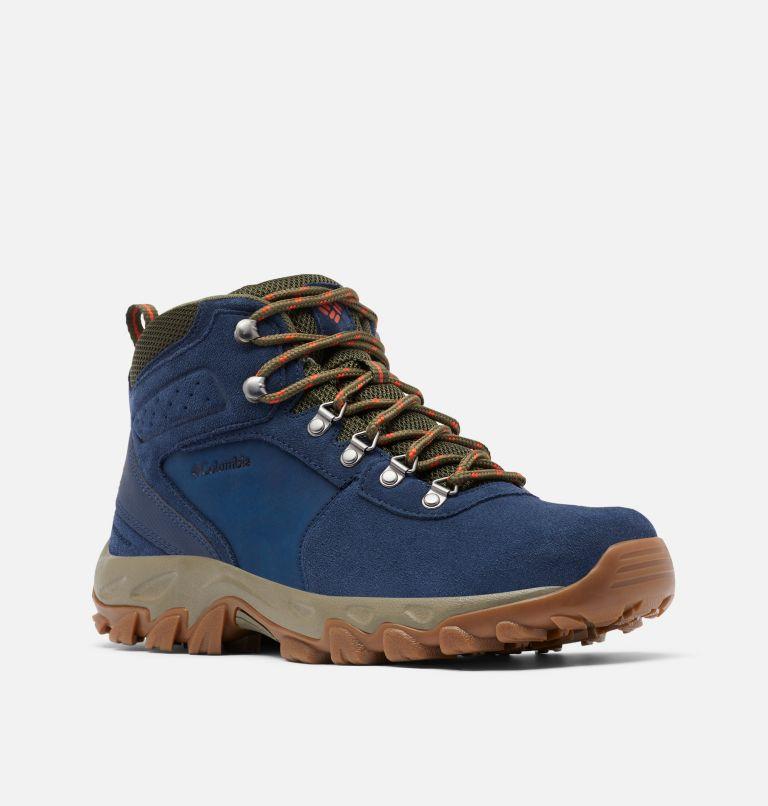 NEWTON RIDGE™ PLUS II SUEDE WP | 464 | 9 Men's Newton Ridge™ Plus II Suede Waterproof Hiking Boot, Collegiate Navy, Peatmoss, 3/4 front