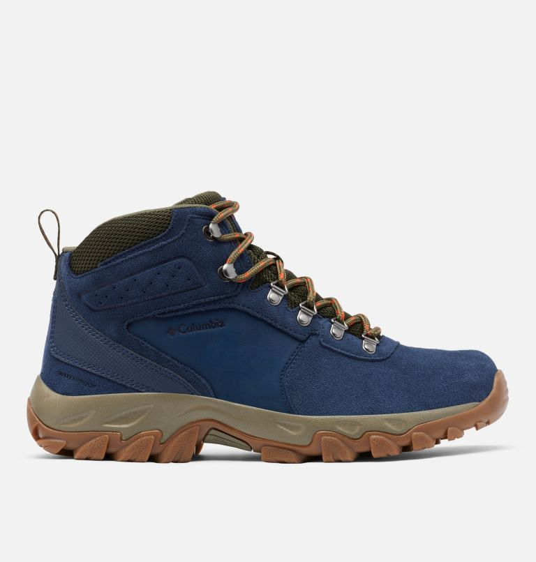 NEWTON RIDGE™ PLUS II SUEDE WP | 464 | 9 Men's Newton Ridge™ Plus II Suede Waterproof Hiking Boot, Collegiate Navy, Peatmoss, front