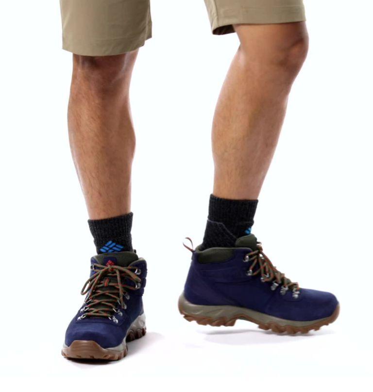 NEWTON RIDGE™ PLUS II SUEDE WP | 464 | 9 Men's Newton Ridge™ Plus II Suede Waterproof Hiking Boot, Collegiate Navy, Peatmoss, video