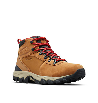 Men's Newton Ridge™ Plus II Suede Waterproof Hiking Boot - Wide NEWTON RIDGE™ PLUS II SUEDE WP WIDE | 270 | 13, Elk, Mountain Red, 3/4 front