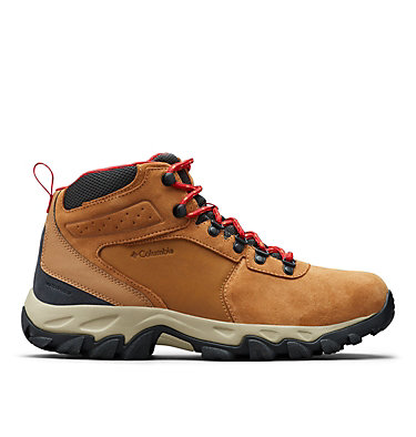 Men's Newton Ridge™ Plus II Suede Waterproof Hiking Boot - Wide NEWTON RIDGE™ PLUS II SUEDE WP WIDE | 270 | 13, Elk, Mountain Red, front