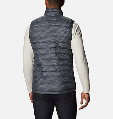 Men's Powder Lite™ Vest - Tall Powder Lite™ Vest | 010 | 4XT, City Grey Columns, back