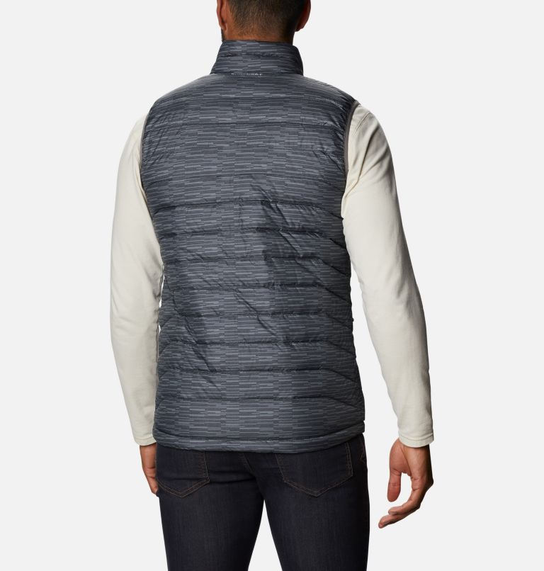 Powder Lite™ Vest | 025 | 3XT Men's Powder Lite™ Vest - Tall, City Grey Columns, back