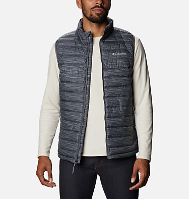 Men's Powder Lite™ Vest - Tall Powder Lite™ Vest | 010 | 4XT, City Grey Columns, front
