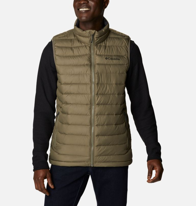 Powder Lite™ Vest   398   3XT Powder Lite™ Vest, Stone Green, front