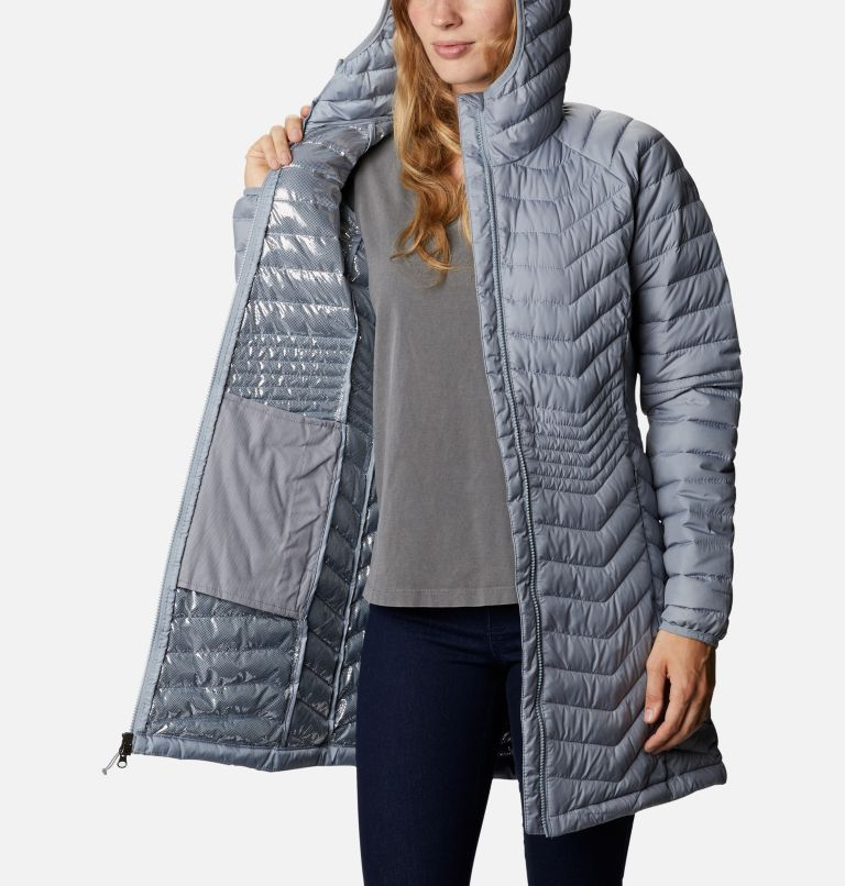 Powder Lite™ Mid Jacket | 032 | XL Women's Powder Lite™ Mid Jacket, Tradewinds Grey, a3