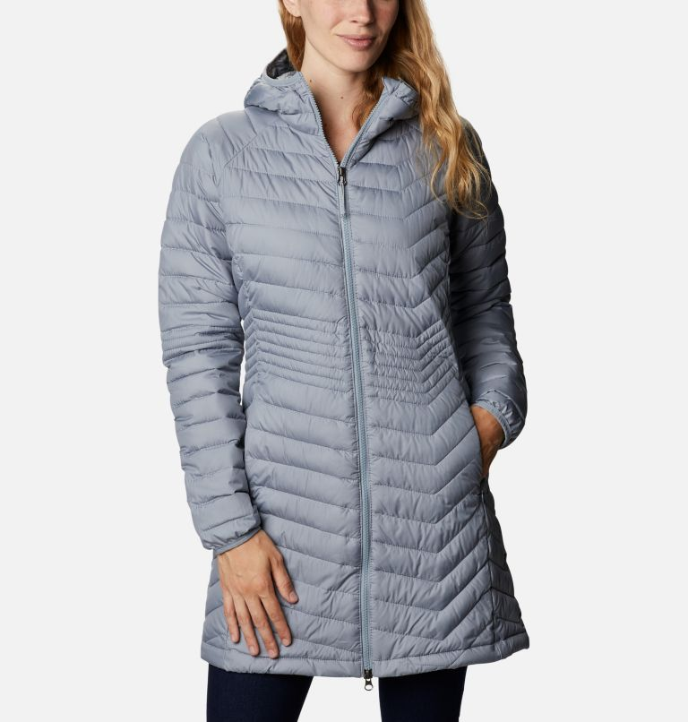 Powder Lite™ Mid Jacket | 032 | XL Women's Powder Lite™ Mid Jacket, Tradewinds Grey, front