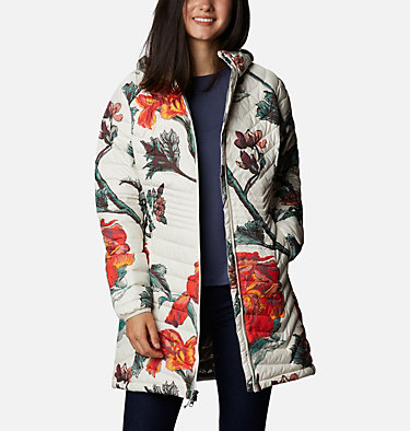 Chaqueta Powder Lite™ Mid para mujer Powder Lite™ Mid Jacket | 192 | XS, Chalk Botanica Print, front