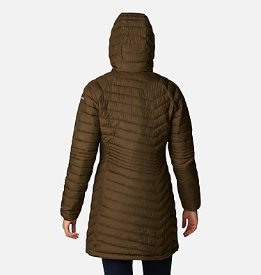 Powder Lite™ Mid Jacke für Damen Powder Lite™ Mid Jacket | 011 | XS, Olive Green, back
