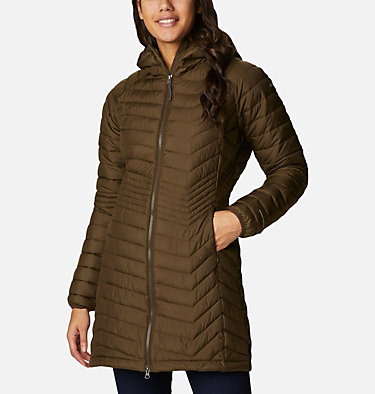 Powder Lite™ Mid Jacke für Damen Powder Lite™ Mid Jacket | 011 | XS, Olive Green, front