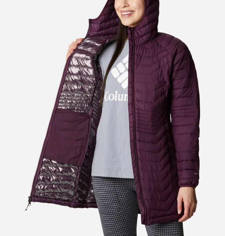 Powder Lite™ Mid Jacket | 522 | L Women's Powder Lite™ Mid Jacket, Black Cherry, a3