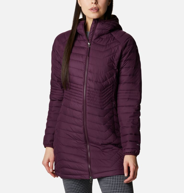 Powder Lite™ Mid Jacket | 522 | L Women's Powder Lite™ Mid Jacket, Black Cherry, a4