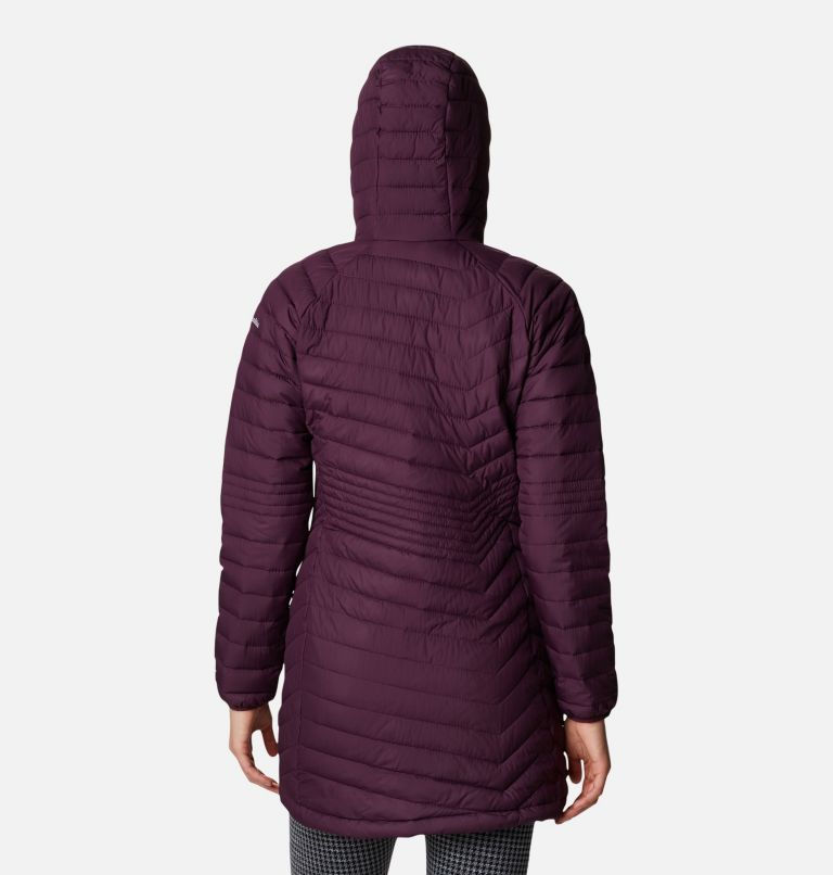 Powder Lite™ Mid Jacket | 522 | L Women's Powder Lite™ Mid Jacket, Black Cherry, back