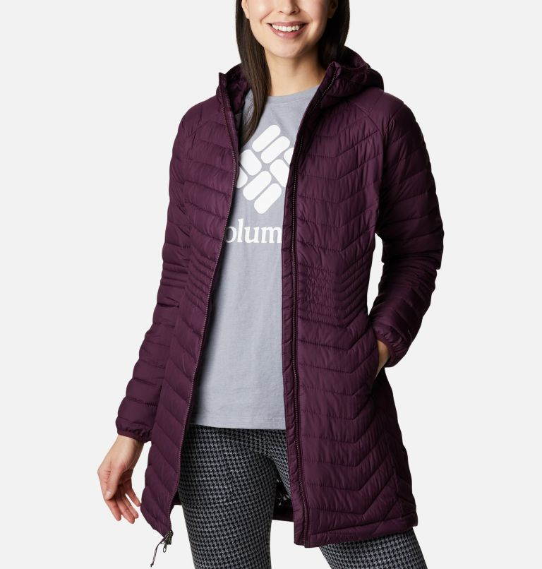 Powder Lite™ Mid Jacket | 522 | L Women's Powder Lite™ Mid Jacket, Black Cherry, front