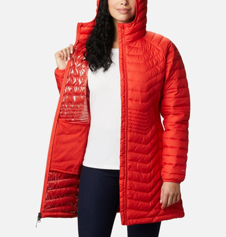Powder Lite™ Mid Jacket   843   S Women's Powder Lite™ Mid Jacket, Bold Orange, a3