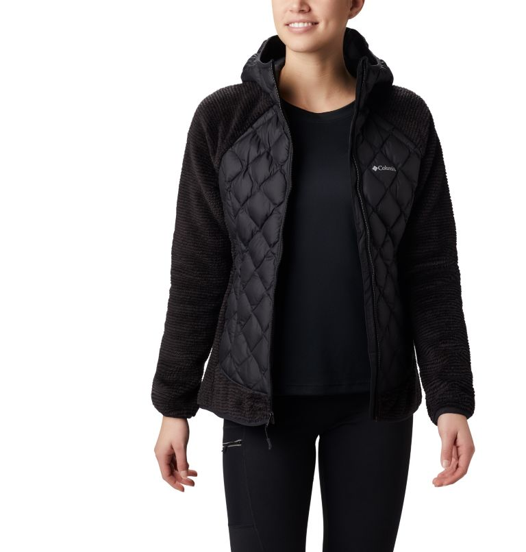 Techy Hybrid™ Fleece | 010 | XS Women's Techy Hybrid™ Fleece, Black, a3