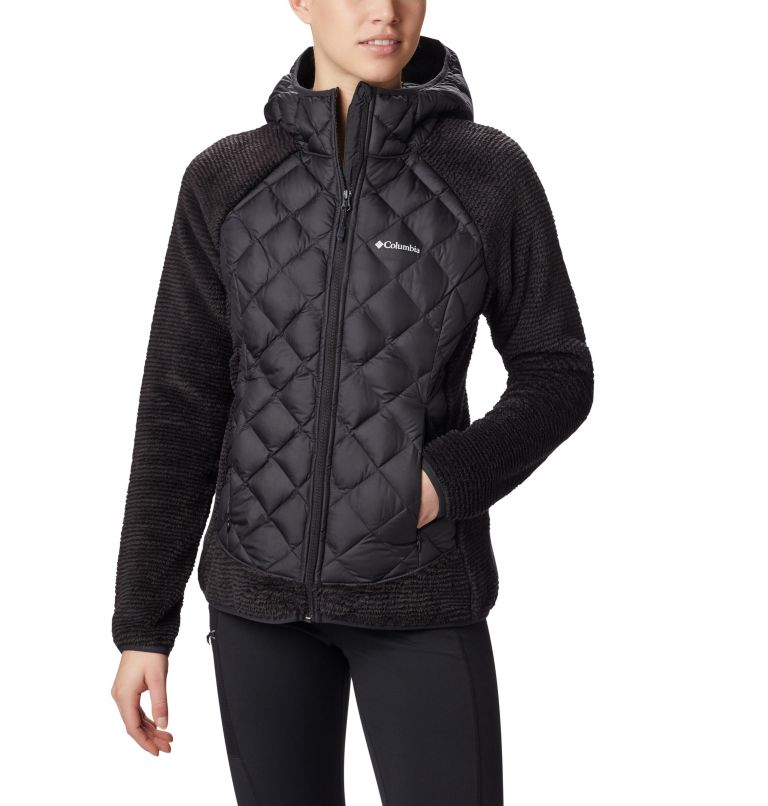Techy Hybrid™ Fleece | 010 | XS Women's Techy Hybrid™ Fleece, Black, front
