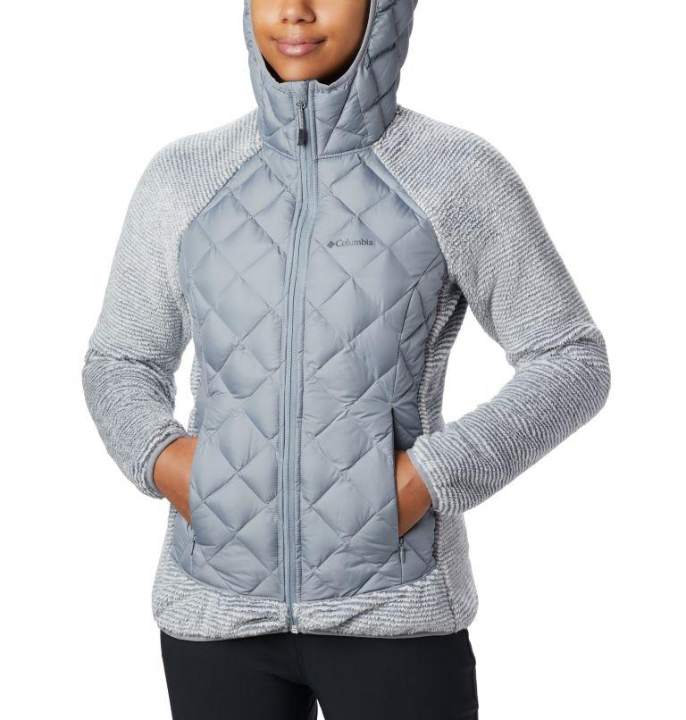 Techy Hybrid™ Fleece | 032 | XL Pile Techy Hybrid™ da donna, Tradewinds Grey, White Stripe, a1