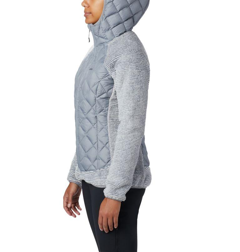 Techy Hybrid™ Fleece | 032 | XL Pile Techy Hybrid™ da donna, Tradewinds Grey, White Stripe, a2
