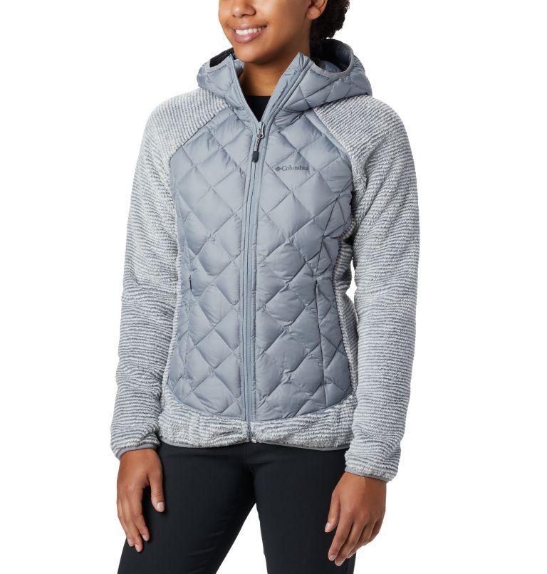 Techy Hybrid™ Fleece | 032 | XL Pile Techy Hybrid™ da donna, Tradewinds Grey, White Stripe, front