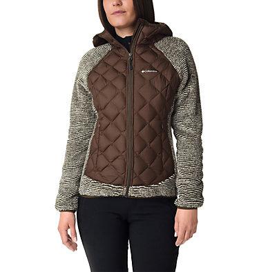 Veste Polaire Techy Hybrid™ Femme Techy Hybrid™ Fleece | 602 | L, Olive Green, Chalk Stripe, front