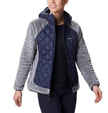 Veste Polaire Techy Hybrid™ Femme Techy Hybrid™ Fleece | 602 | L, Nocturnal, White Stripe, front
