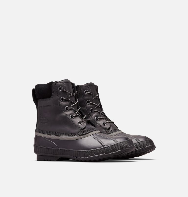 CHEYANNE™ II | 010 | 11 Mens Cheyanne II Lace Duck Boot, Black, Black, 3/4 front