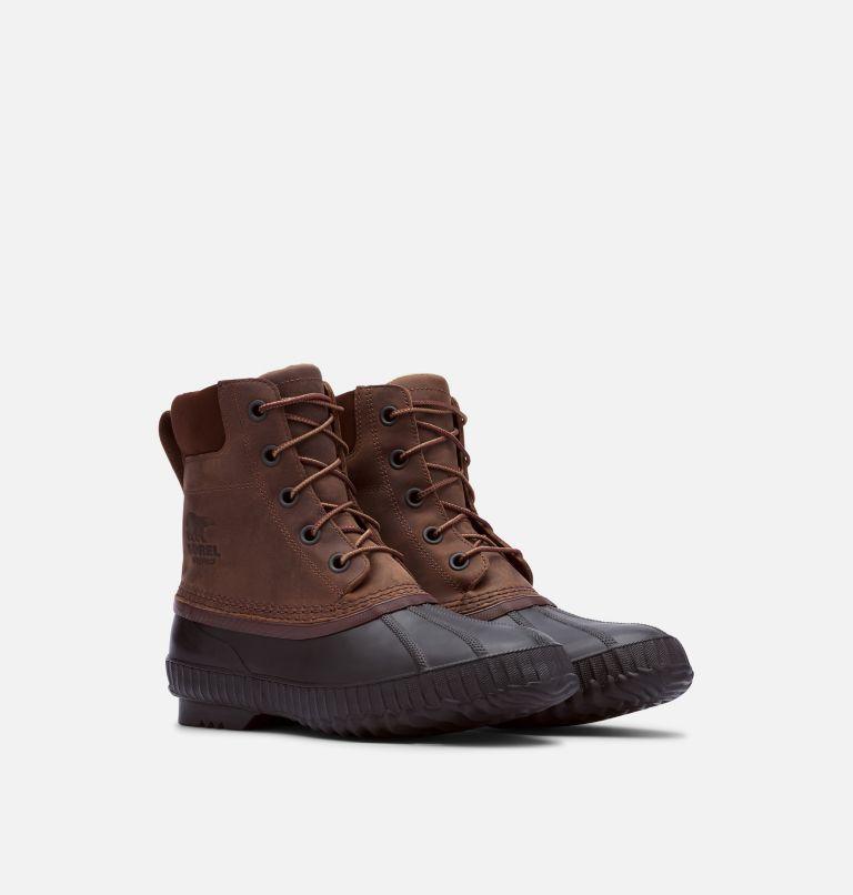 CHEYANNE™ II | 259 | 7.5 Mens Cheyanne II Lace Duck Boot, Tobacco, Black, 3/4 front