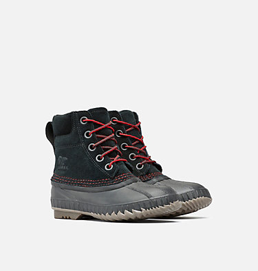 Boy's Cheyanne™ II Lace Boot  YOUTH CHEYANNE™ II LACE | 011 | 2, Black, Mountain Red, 3/4 front