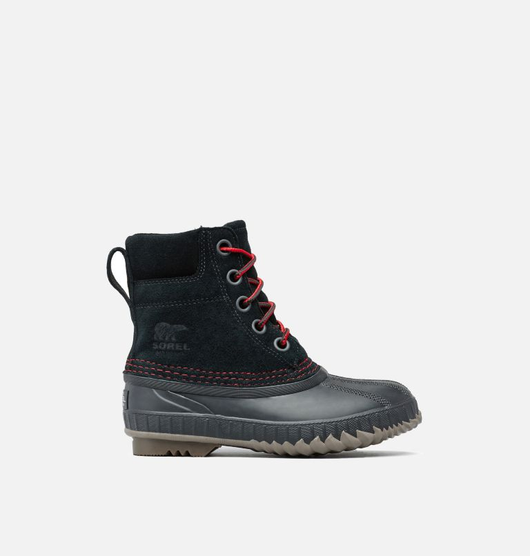 YOUTH CHEYANNE™ II LACE | 011 | 5 Boys Cheyanne II Duck Boot, Black, Mountain Red, front