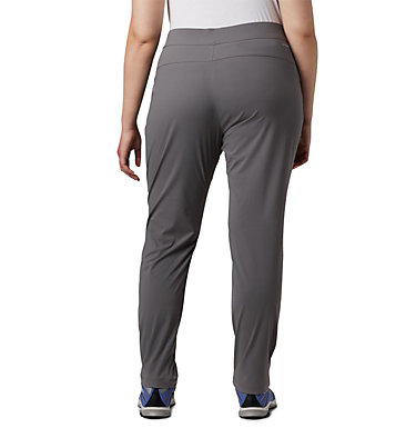 Women's Anytime Casual™ Pull On Pants - Plus Size Anytime Casual™ Pull On Pant | 472 | 1X, City Grey, back