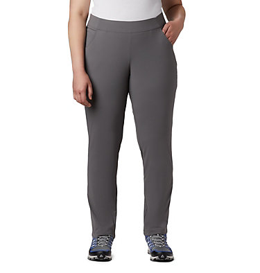 Women's Anytime Casual™ Pull On Pants - Plus Size Anytime Casual™ Pull On Pant | 472 | 1X, City Grey, front