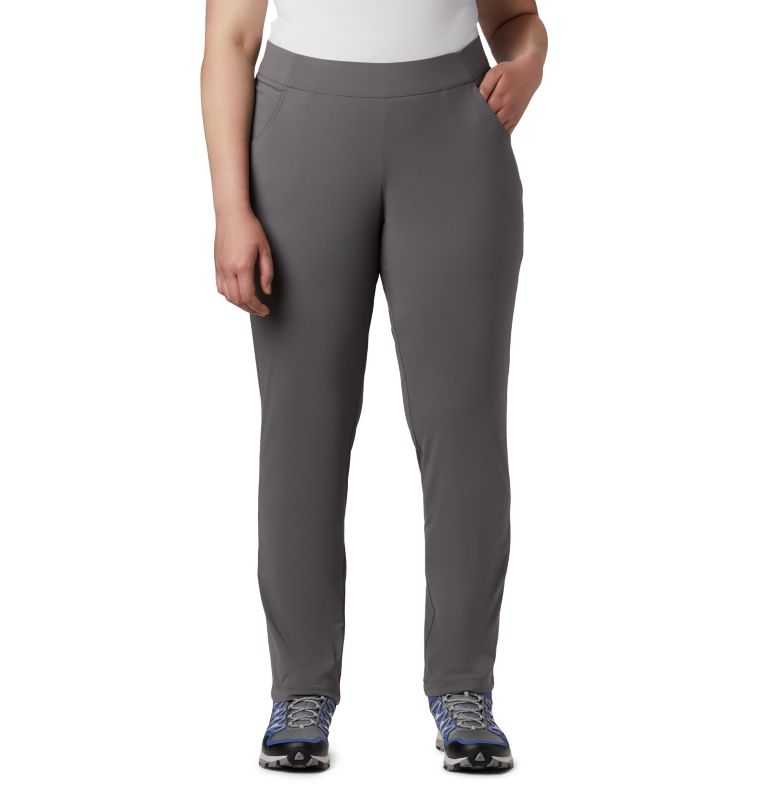 Anytime Casual™ Pull On Pant | 023 | 1X Women's Anytime Casual™ Pull On Pants - Plus Size, City Grey, front