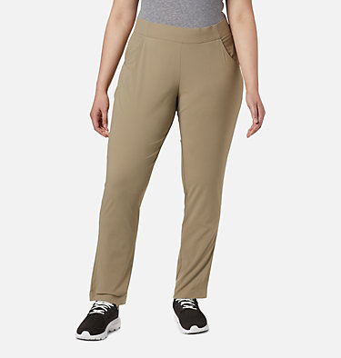 Women's Anytime Casual™ Pull On Pants - Plus Size Anytime Casual™ Pull On Pant | 472 | 1X, Tusk, front