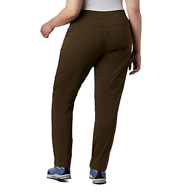 Women's Anytime Casual™ Pull On Pants - Plus Size Anytime Casual™ Pull On Pant | 319 | 1X, Olive Green, back