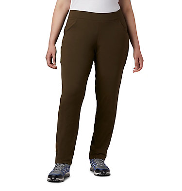 Women's Anytime Casual™ Pull On Pants - Plus Size Anytime Casual™ Pull On Pant | 319 | 1X, Olive Green, front