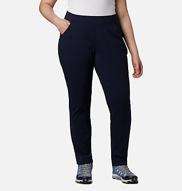 Women's Anytime Casual™ Pull On Pants - Plus Size Anytime Casual™ Pull On Pant | 472 | 1X, Dark Nocturnal, front