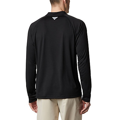 Men's PFG Terminal Tackle™ 1/4 Zip Pullover Terminal Tackle™ 1/4 Zip | 372 | L, Black, back