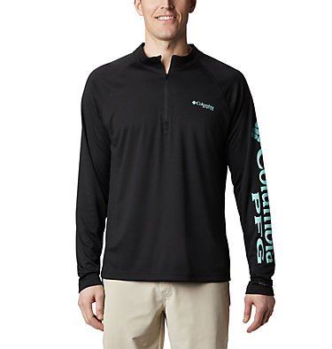 Men's PFG Terminal Tackle™ 1/4 Zip Pullover Terminal Tackle™ 1/4 Zip | 372 | L, Black, front