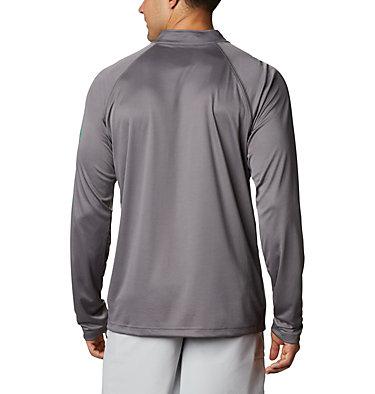 Men's PFG Terminal Tackle™ 1/4 Zip Pullover Terminal Tackle™ 1/4 Zip   372   L, City Grey, Dark Lime Logo, back
