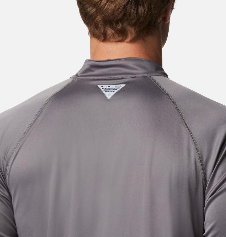 Terminal Tackle™ 1/4 Zip | 024 | XXL Men's PFG Terminal Tackle™ 1/4 Zip Pullover, City Grey, White Logo, a3