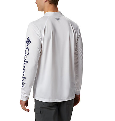 Men's PFG Terminal Tackle™ 1/4 Zip Pullover Terminal Tackle™ 1/4 Zip | 372 | L, White, Nightshade, back