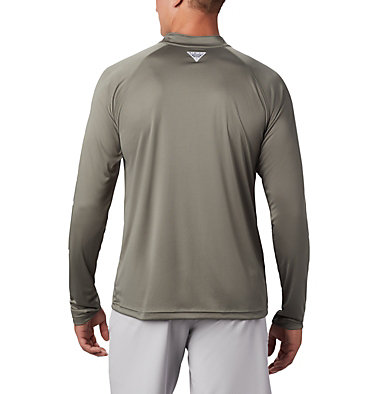 Men's PFG Terminal Tackle™ 1/4 Zip Pullover Terminal Tackle™ 1/4 Zip | 372 | L, Cypress, White Logo, back