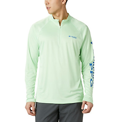 Men's PFG Terminal Tackle™ 1/4 Zip Pullover Terminal Tackle™ 1/4 Zip | 372 | L, Key West, front