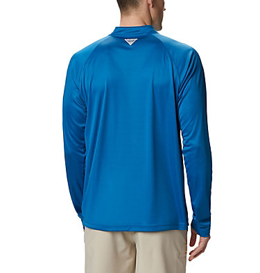 Men's PFG Terminal Tackle™ 1/4 Zip Pullover Terminal Tackle™ 1/4 Zip | 372 | L, Dark Pool, White Logo, back