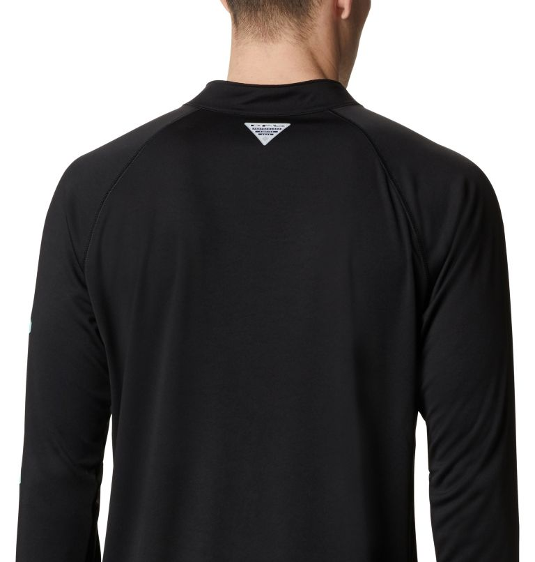 Terminal Tackle™ 1/4 Zip | 010 | 1X Men's PFG Terminal Tackle™ 1/4 Zip Pullover - Big, Black, a3