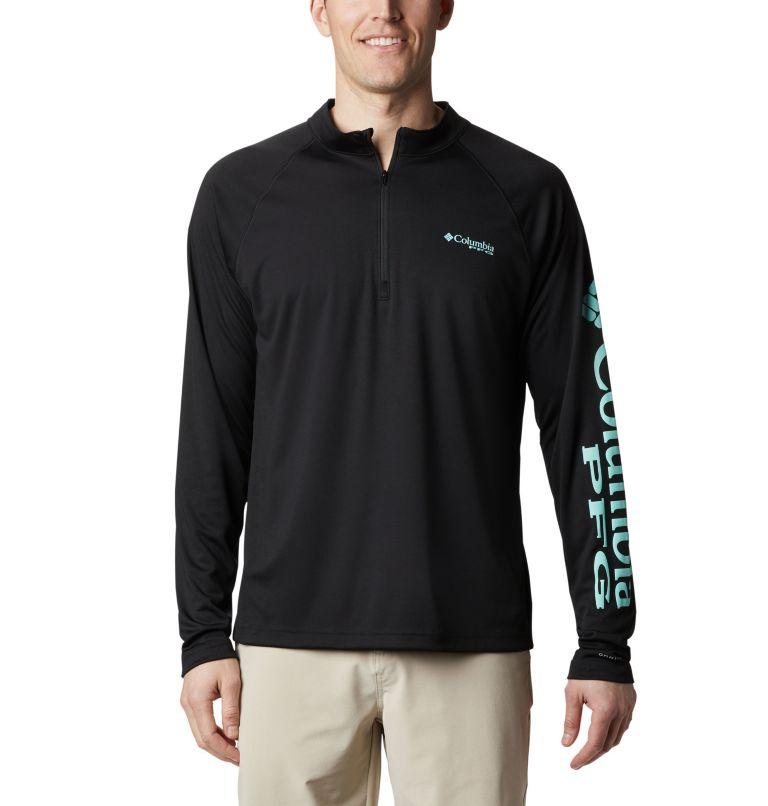 Terminal Tackle™ 1/4 Zip | 010 | 1X Men's PFG Terminal Tackle™ 1/4 Zip Pullover - Big, Black, front