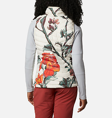 Women's Powder Lite™ Vest Powder Lite™ Vest | 192 | XXL, Chalk Botanica Print, back