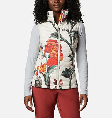 Women's Powder Lite™ Vest Powder Lite™ Vest | 192 | XXL, Chalk Botanica Print, front