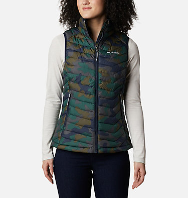 Women's Powder Lite™ Vest Powder Lite™ Vest | 671 | S, Dark Nocturnal Traditional Camo Print, front